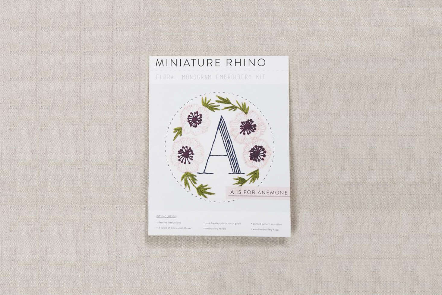 Michelle hopes to pass along her early love of embroidery and gardening with a gift of a Floral Monogram Embroidery Kit. Choose any letter in the alphabet. From Fancy Tiger Crafts; $