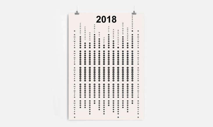 minimal design wall calendar 2018