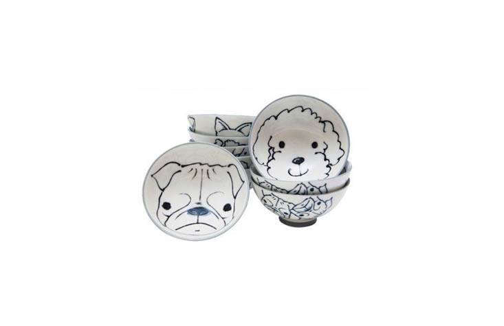 A comic surprise for the table: paintedJapanese Dog Rice Bowls are $loading=