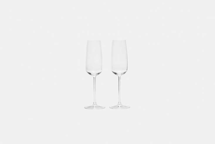 10 Easy Pieces Champagne Flutes The Nude Champagne Glass Set of Two is \$3\2 at The Line.