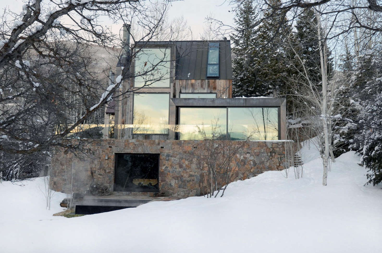 Oppenheim wanted the house to disappear into the landscape.To see more, go toOppenheim Architecture.