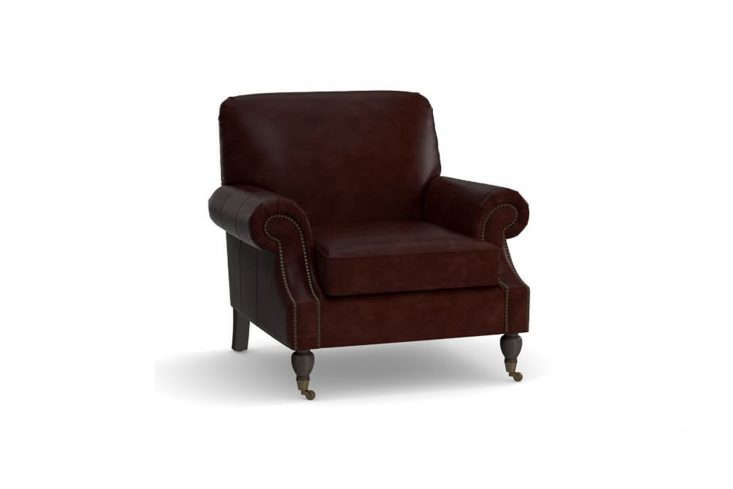 pottery barn&#8\2\17;sbrooklyn leather armchair is inspired by the edward 12