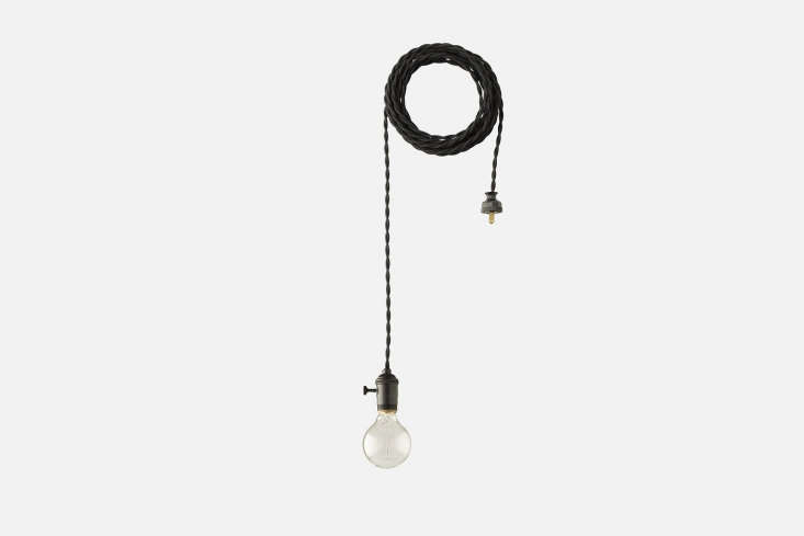The Apartment Pendant with a black cord is $9 at Schoolhouse Electric.