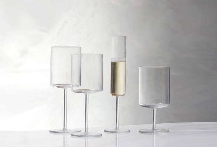 10 Easy Pieces Champagne Flutes The Schott Zwiesel Modo Champagne Glass is \$48 for a set of four at West Elm.