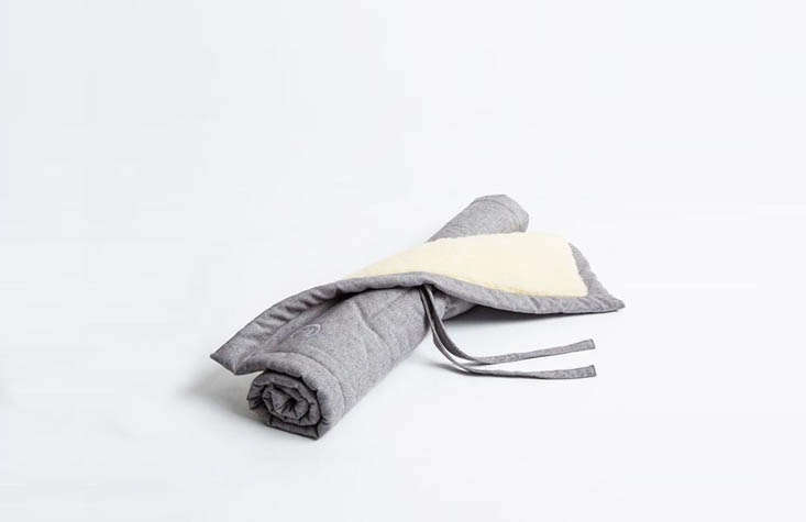 Finally, for the dog on the go (or the minimalist dog owner): the Tweed Grey Travel Blanket is made in Berlin from recycled hemp, organic cotton tweed, and sheep&#8
