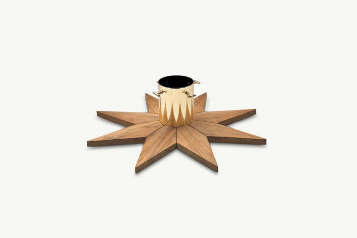 Danish company Skagerak makes a Christmas Tree Base from teak and brass-plated steel; €9 ($330) at Skagerak. Also available at Viesso ($3) and Decor Interiors ($349) in the US.