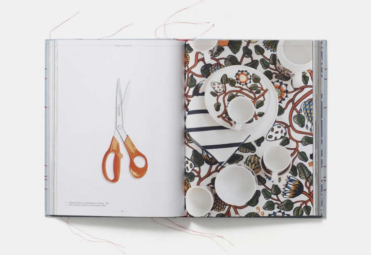 The original O-Series Fiskars Scissors (an object included in theRemodelista 0 list of the all-time most useful and beautiful household items, as featured in our book), andTiara dinnerware byErja Hirvi for Marimekko.