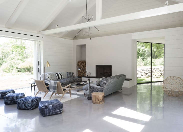 at tiina laakonen&#8\2\17;s house in the hamptons, a perfectly stacked wood 9