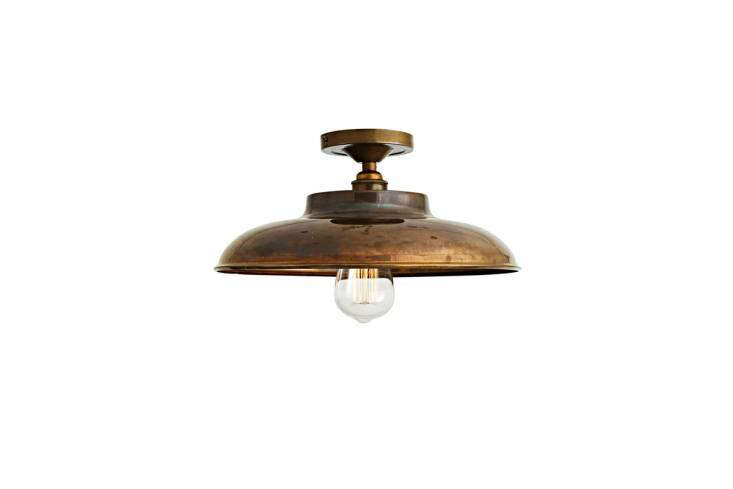 The Flat Industrial Ceiling Light has a vaulted shade, available in four finishes; €9 ($9.30).