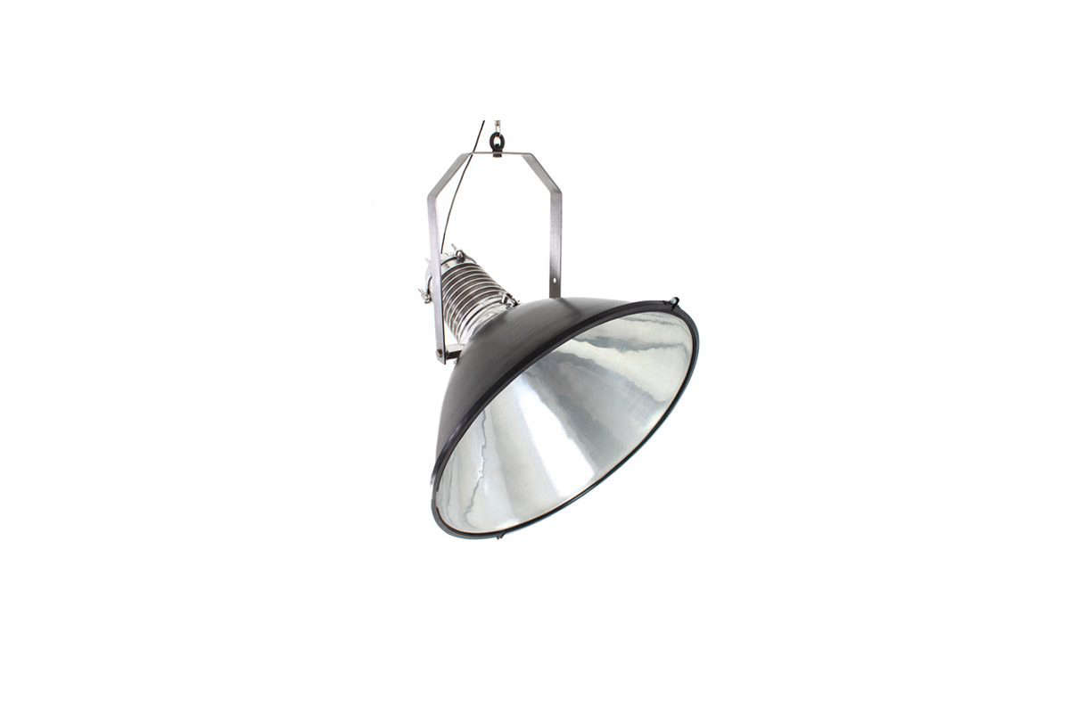 TheLarge Ship Pendant is hand-made of pressed aluminum and conjures maritime style; is can also be positioned to the side and comes with a hand-twisted textile cable; €src=