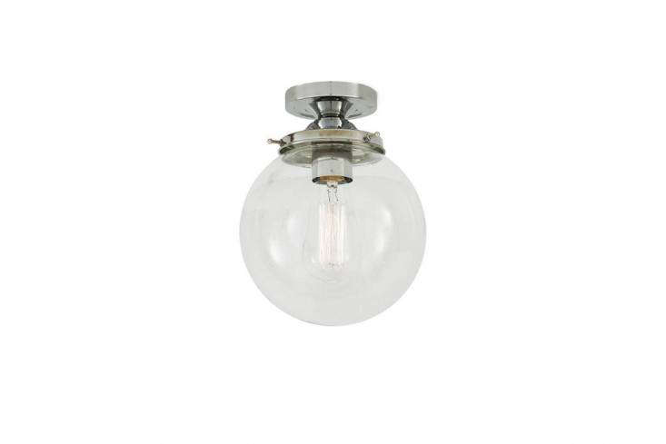 We particularly like the vintage-styleTimeless Glass Globe Ceiling Light, which comes in three sizes ( centimeters,  centimeters, and 30 centimeters in diameter) and six finishes; from €94 ($loading=