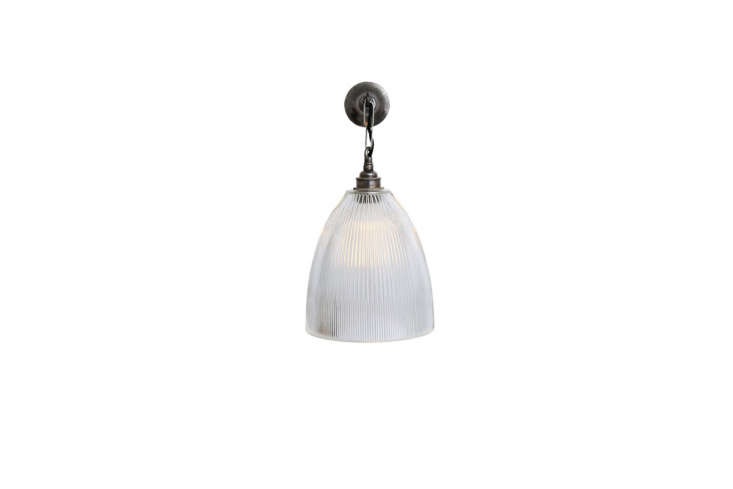 One of many designs with traditional glass: the Wall Light with Prismatic Glass is affixed to the wall with a small hook and chain; €0 ($0.50).