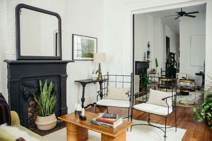 A view from the front parlor all the way through to the back door.Like any shotgun, the house is designed for airflow, with several small, successive rooms and loading=