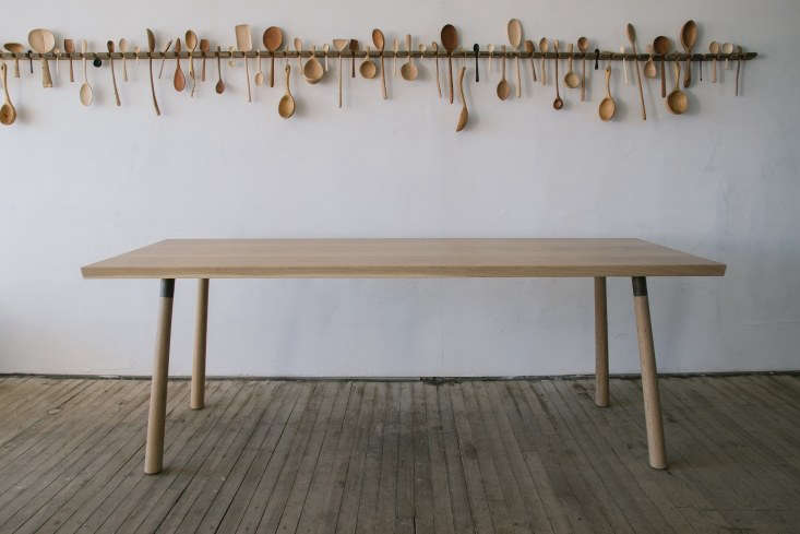 joshua vogel&#8\2\17;s splay leg table in natural is available to order at  18