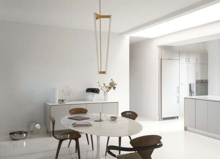 the black and white light on the sideboard is the flossnoopy table lamp (c 12