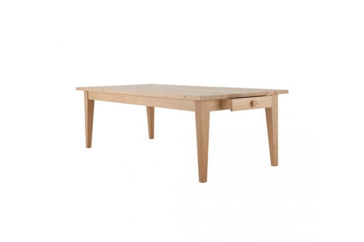 the solid oak \240 centimeter wide (94 inch wide)wardour dining table is on s 12