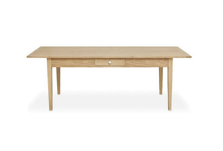 the seven foot wide oakshaker table from devol is £\2,050 (\$3,\2\27) with d 17