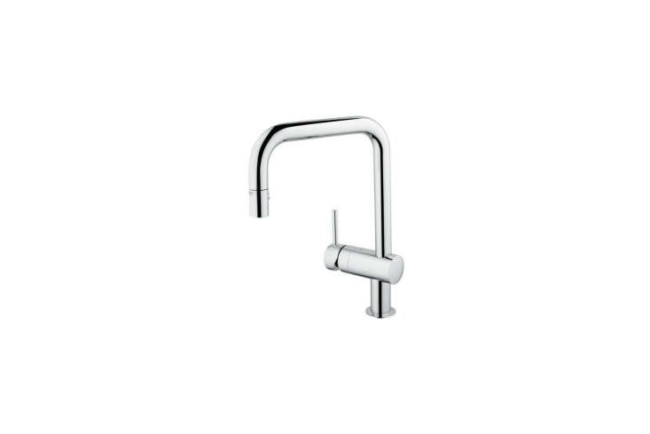 The Grohe Minta Pull-Down U-Spout Faucet is made in Germany; $4.30 to $545.30 at Quality Bath.