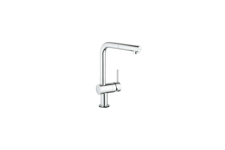 The Grohe Minta Touch Single-Handle Pull-Down Sprayer Faucet, shown in Starlight Chrome, is $489.30 at Home Depot.