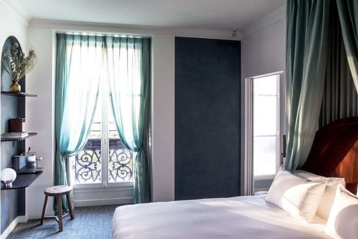 Each of the 50 guest rooms has lime plaster walls and custom-dyed linen draperies: materials and colors that reference the late th century and Marie Antoinette&#8