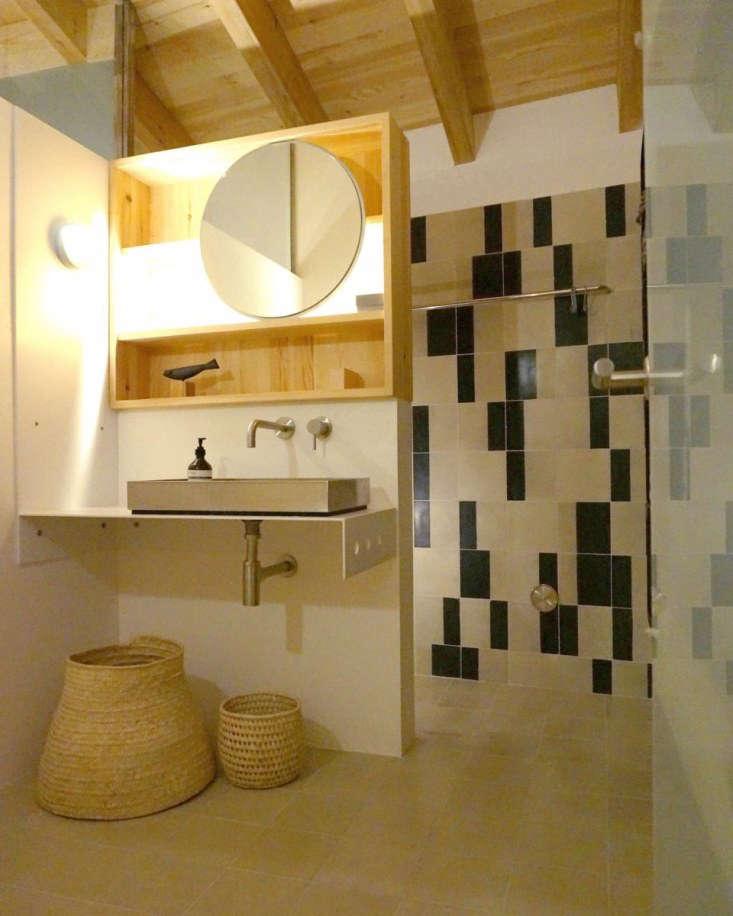 huguet mallorca cement tiles black bathroom
