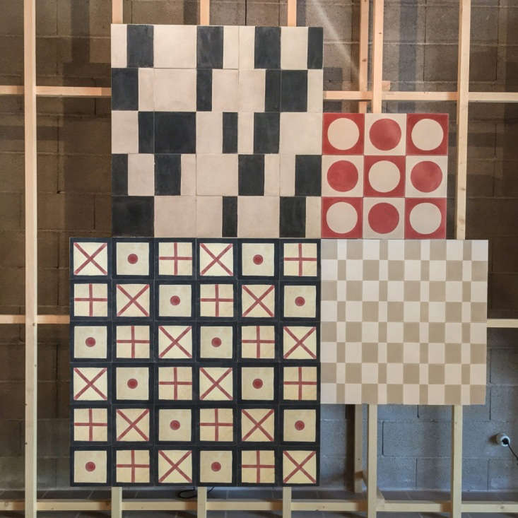 huguet mallorca cement tiles red black