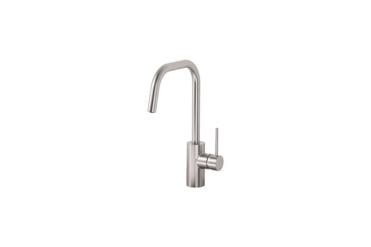 TheÄlmaren Kitchen Faucet in a stainless steel finish is $89 at Ikea.