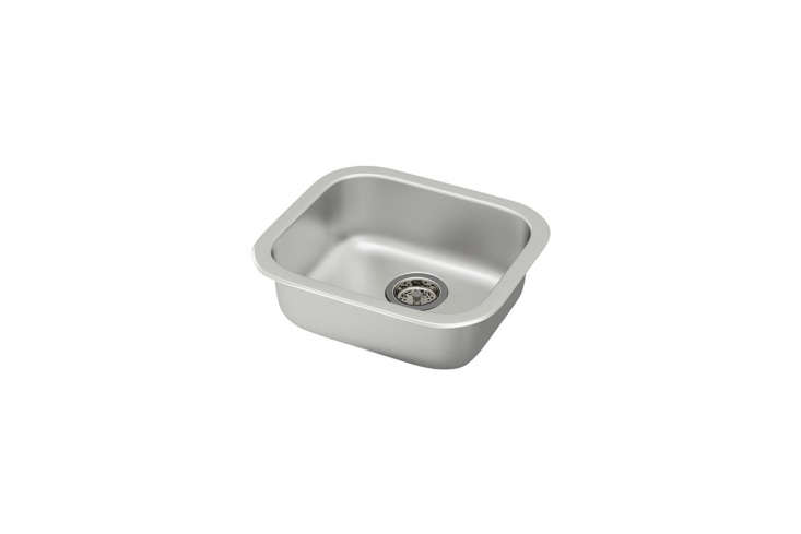 The small prep sink, the Fyndig Sink in stainless steel is $3loading=