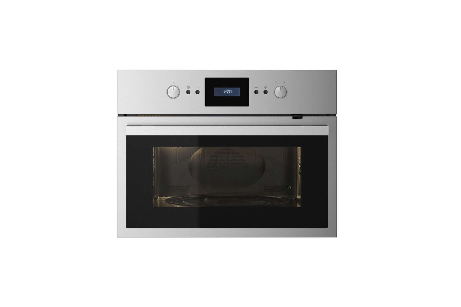 Marcia and Durrell sourced a combination microwave/oven at Ikea. TheRaffinerad Microwave Combi Oven (shown) is £500 ($687.) and only available at Ikea in the UK. The US equivalent from Ikea is theNutid Microwave Oven for $695.