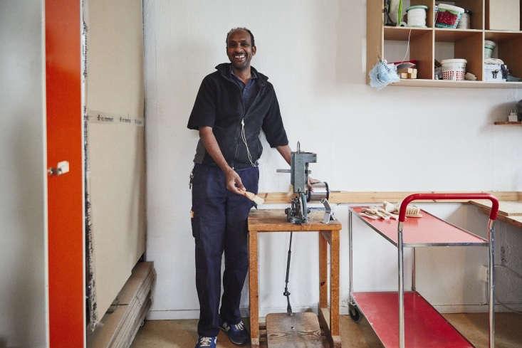 craftsman negassi tekeleab has worked with iris hantverk for \14 years. the bru 17