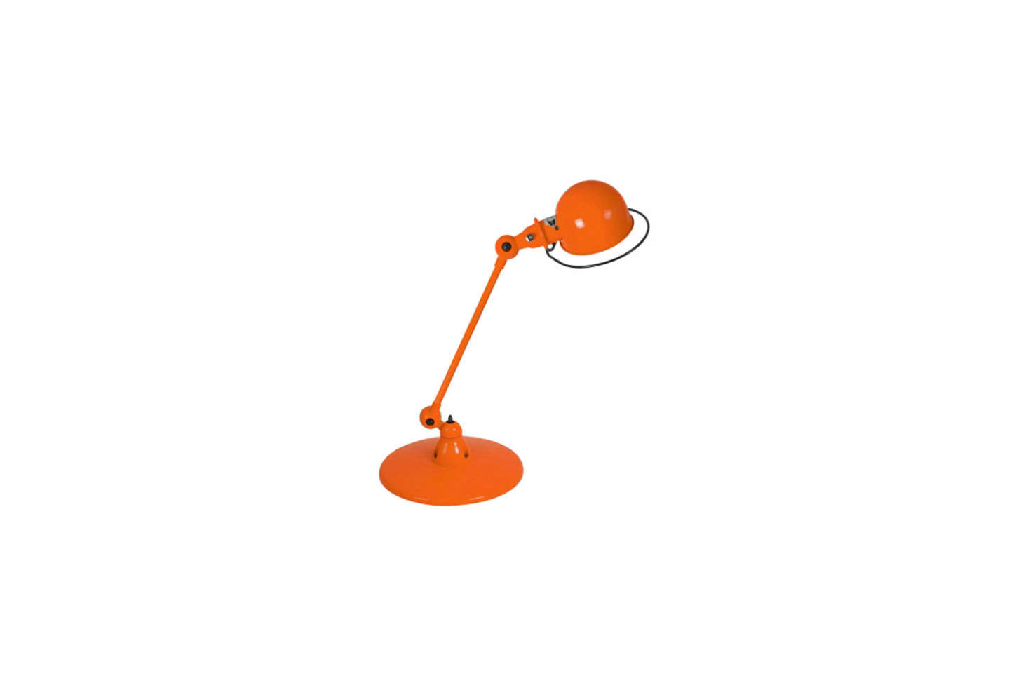 TheJielde Loft Desk Lamp D6000 in orange (shown) is a close match to the vintage Anglepoise orange light in the kitchen. You can source it from Horne for $src=