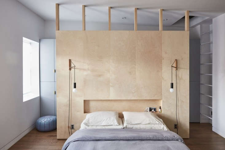 Remodeling 101 Bedside Lighting Dual wall mounted pendants in a Brooklyn apartment; seeIn Bed Stuy, Brooklyn, a Renovated Brownstone with Inspired Solutions for more. Photograph byJonathan Hökklo.