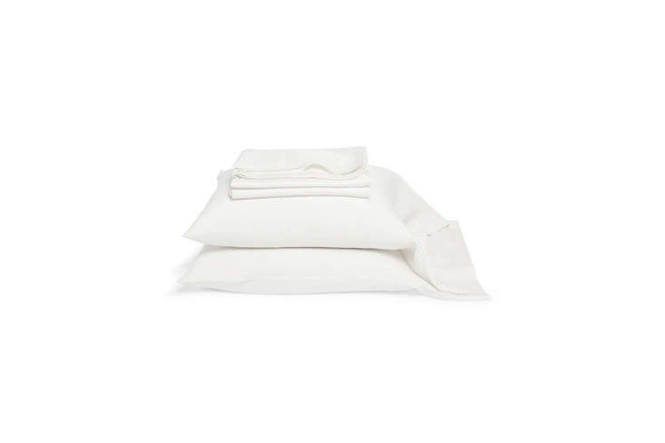 the libeco heritage white linen sheets and pillowcases range from \$75 to \$386. 17