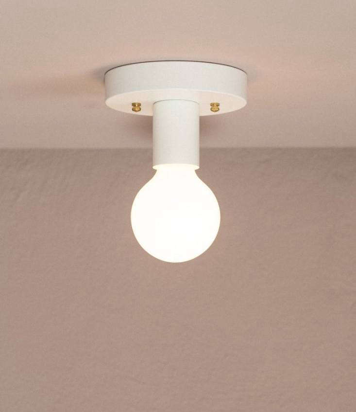 The OFS Flush Mount light fixture is a simple ceiling light, designed and made in Vancouver; $74.95, bulb not included.