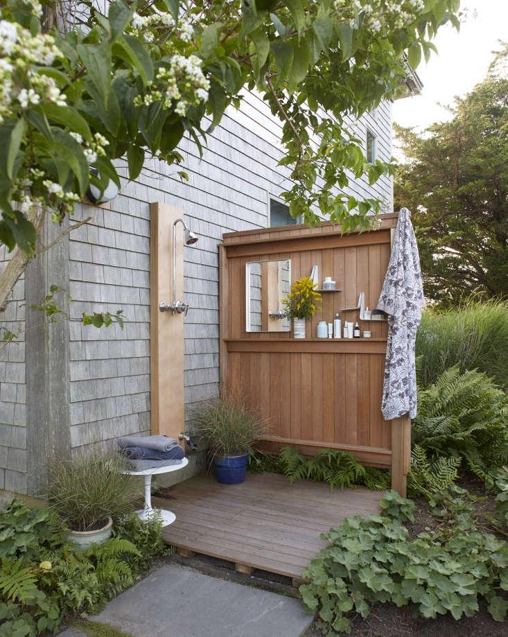 outdoor shower chilmark cottage garden