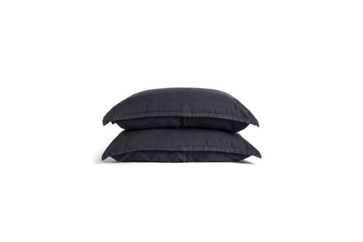 from parachute, a set of \2 linen shams (shown in coal) is \$79 to \$89. 16