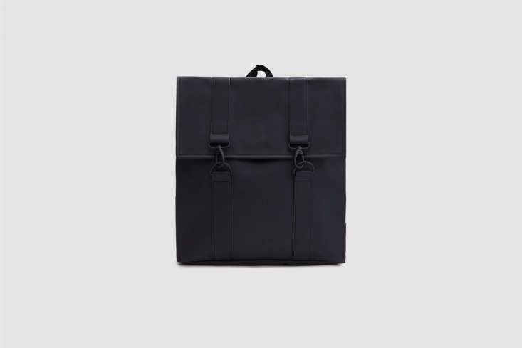 the rains msn bagin black has a matte finish; \$95 at need supply. 22