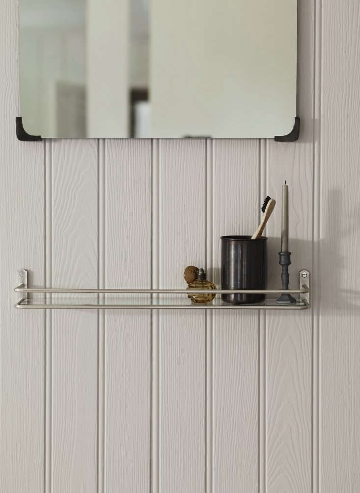 Vintage Luxe New Bath Accessories from Rowen amp Wren with Traditional Appeal ABilton Bathroom Shelf (£68), shown in nickel, holds aBilton Toothbrush Holder (£\24) with a rolled edge and &#8\2\20;gratifying weight.&#8\2\2\1;