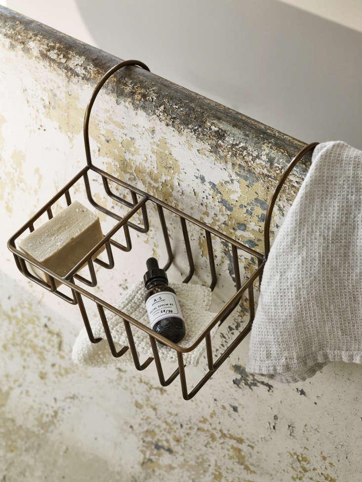 Vintage Luxe New Bath Accessories from Rowen amp Wren with Traditional Appeal Bilton Bath Caddy in Brass from Rowen & Wren