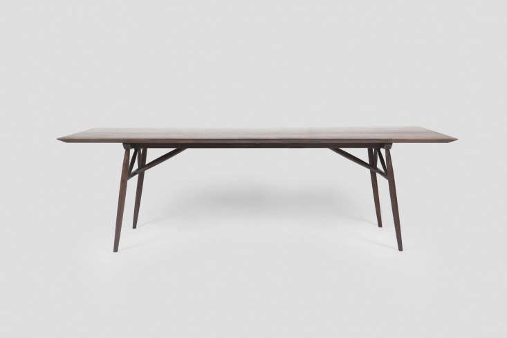 the sawkille penn table features tapered legs and is available in american blac 13