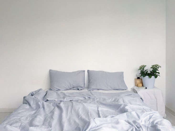 A bed dressed in Pearl linens (&#8
