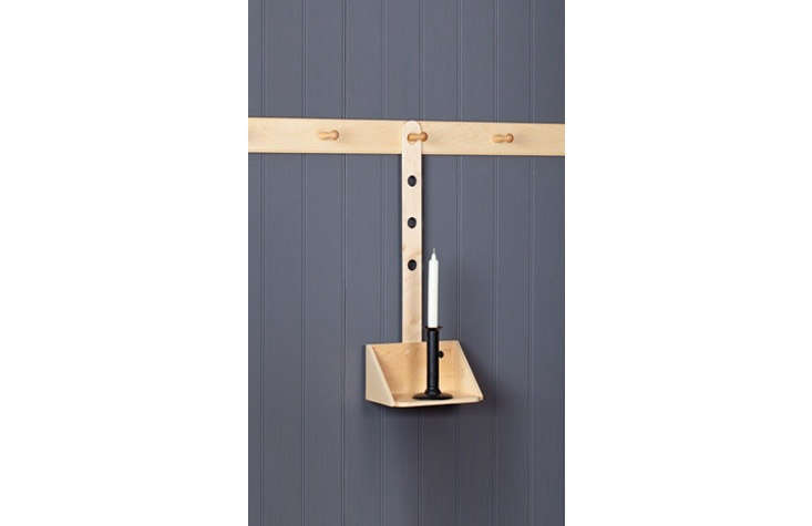 shaker of malvern&#8\2\17;sadjustable candle sconce is available in maple 11