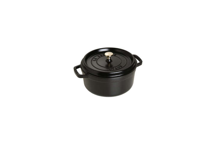 The Instant Kitchen Kit 20 Remodelista Favorites on Amazon Prime The Staub Dutch Oven won a spot on our Remodelista \100 list in our book, Remodelista: A Manual for the Considered Home. A similar choice, available on Amazon Prime, is the four quart cocotte; \$\284.95.