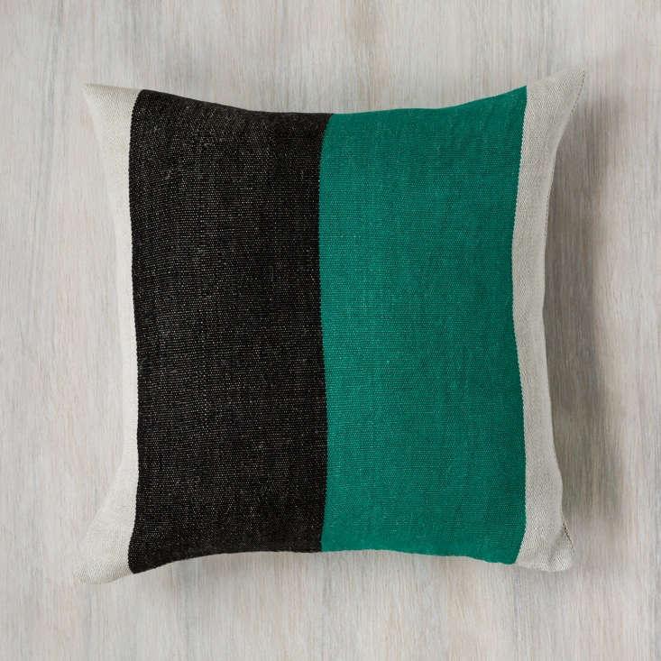 the dorothy handwoven linen pillow; \$3\20. 21