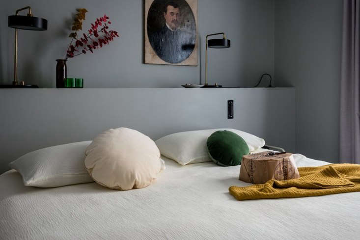 the socialite family in france makes two styles of round velvet cushions. on th 9