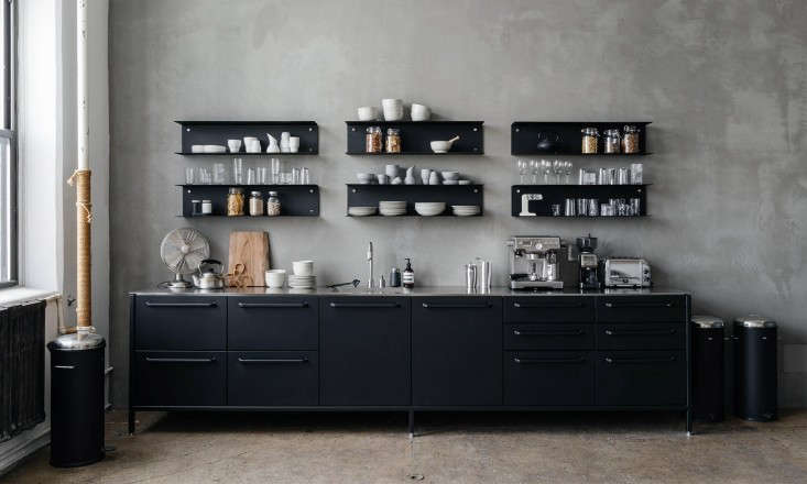 copenhagen company vipp designs a line of kitchen modules—a wall module (show 13