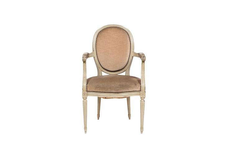 a typical louis xvi oval back armchair, this one from the \1930s and available  14
