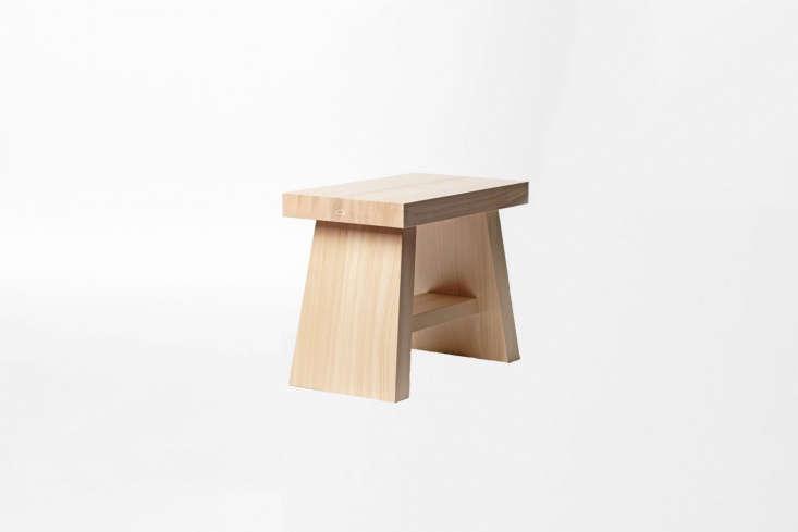 the azmaya hinoki bath stool has a traditional shape and design; \$86.8\1 at an 14
