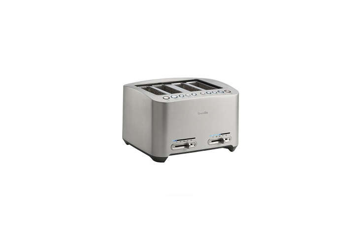 thebreville four slice stainless steel toaster is \$\179.95 at crate & ba 19