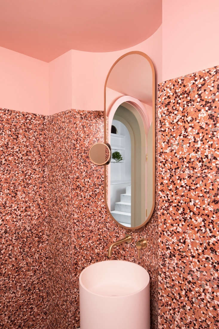 cinematic pink: the bathroom at a chengdu, china, cafe inspired by wes anderson 21